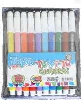 Marcador Escolar Toyito Mini x 10 Unid. En Estuche PVC Cod. 10010001910