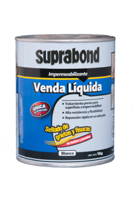 Venda Suprabond Liquida Impermeabilizante Blanca 2 latas x 1 Kg. Cod. Mbn Ven 1 B