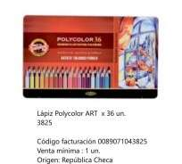 Lapices De Colores Koh-I-Noor Polycolor Art x 36 Largos En Lata Cod. 089071043825