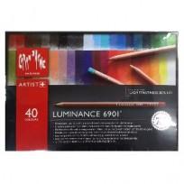 Lapices De Colores Caran Dache Luminance x 40 Largos Cod. 089025276901740