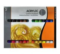 Acrilico  Daler-Rowney Simply X 24 Colores - Pomo X 12 Ml Cod.126500024