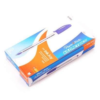 Boligrafo Paper Mate Kilometrico 100 Con Inkjoy Azul x 12 Unid. Cod. La3531