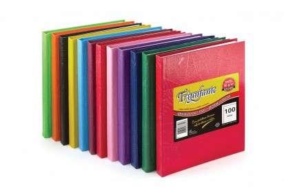Cuaderno Triunfante 16 x 21 Tapa Carton Araña Azul x  50 Hjs. Rayado - 90 G/M2. Cod. 355127