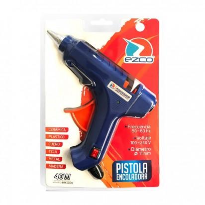 Pistola Ezco SD-102 Encoladora Para Barra Gruesa (11 Mm) Potencia 40 Watts Blister Cod. 305511