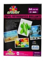 Papel Arcolor A4  Photo Glossy 200Grs. Paq.X20 Hjs. Cod. 20200