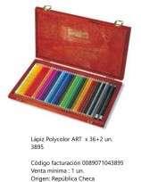 Lapices De Colores Koh-I-Noor Polycolor Art x 36 + 2 En Caja De Madera Cod. 089071043895