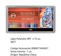 Lapices De Colores Koh-I-Noor Polycolor Art x 72 Largos En Lata Cod. 089071043827