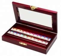 Pastel Al Oleo Caran Dache Aquarelle Ex/F x 22 Unid. Caja De Madera 2500-422 Cod. 20602500422