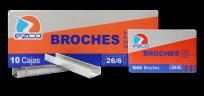 Broche Ezco Para Abrochadora 26/6 - 21/6 x 1000  x 10 Unid. Cod. 304003