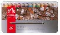 Lapices De Colores Caran Dache Pablo Colection x  80 Largos En Lata 666-380 Cod. 08902509380