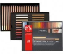 Pastel Caran Dache Paisaje x 20 Unid. + 20 Cubes Cod. 20802502420