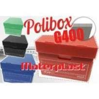 Caja Materplast Multiuso G400 Polibox  Azul 43 x 32 x 25 Cms. Cod. 1140/A