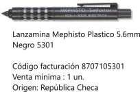 Portaminas Mephisto 5,6 Mm. Plastico Negro Cod. 8707105301