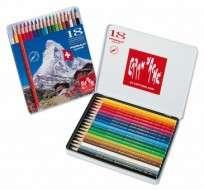 Lapices De Colores Caran Dache Prismalo x 18 Largos Acuarelables En Lata 999-318 Cod. 08902510318