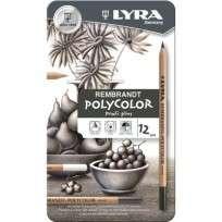 Lapices De Colores Lyra Rembrandt Profi-Plus x 12 Grises Cod. 2001122