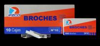 Broche Ezco Para Abrochadora 10 x 1000  x 10 Unid. Cod. 304001