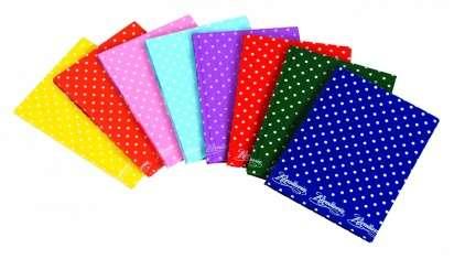 Cuaderno Rivadavia 16 x 21 Tapa Carton Lunares Rosa x 50 Hjs. Rayado Cod. 3670x 50