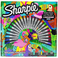 Marcador Permanente Sharpie Expression Ruleta x 33 Unid.. Cod. 2102507
