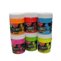 Tempera Maped Color Peps Colores Fluo Pote x 200 Ml./250 Grs. x 6 Unid. Cod. Promofluo