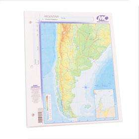 Mapa Mundo Cartografico Nro. 3 Republica Argentina. Contorno Bolsa X 40 Unid. Cod. F-011-C