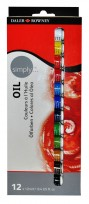 Oleo  Daler-Rowney Simply X 12 Colores - Pomo X 12 Ml Cod.118500100