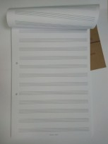 Block S. Paper Musica Profesional A4 90 Grs. Extra Blanco x 40 Hjs. Cod. Sp. B.M.x 40