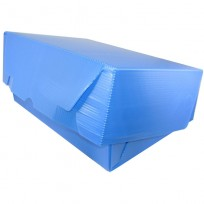 Caja Archivo Plastica Legajo 39 x 28 x 12 Cms. Azul Tapa Volcada Sin Impresion Bulto x 25 Unid. Cod. 816/A/B