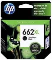 Cartucho Hewlett Packard 662 XL (CZ105AL) Negro Alto Rendimiento 6,5 Ml. P/Deskjet Ink Advantage 1015/1515/1516/2515/2516/2545/2546/2645/2646/3515/3516/3545/3546/Advantage 4645 Cod. Ci-Hp-Z10500