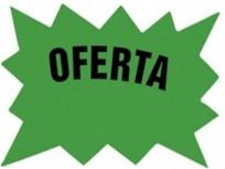 Cartel Para Precios CA Oferta .Cartulina Fondo Blanco, Dibujo Verde, Letra Negra Medidas 7,5 Cm. X 10 Cm. Pack X 24 Unid. Cod. Em-03