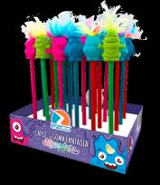 Lapiz Grafito Ezco Con Goma Fantasia Monsters Display Box X 24 Unid.  Cod. 221111