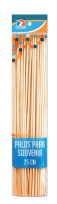 Palitos Brochette Ezco Para Manualidades Natural 25 Cm. De Largo Pack X 50 Unid. Cod. 402203