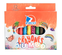 Crayon Ezco Escolar Jumbo X 12 Unid. Diametro: 11 Mm Cod. 172303