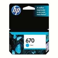 Cartucho Hewlett Packard 670 (CZ114AL) Cyan 3,5 Ml. P/Deskjet 3525/4615/4625/5525 Cod. Ci-Hp-Z11400
