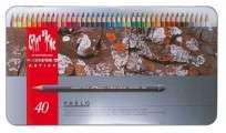 Lapices De Colores Caran Dache Pablo Colection x  40 Largos En Lata 666-340 Cod. 08902509840