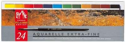 Acuarela Caran Dache Aquarelle Ex/F Lata 24 Colores 2500-324 Cod. 20602500324