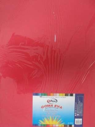 Goma Eva Pax 45 x 60 Cms. Rojo x 10 Unid. Cod. 139838Ot