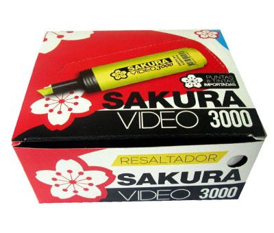 Resaltador Sakura Video 3000 Verde Cod. 13100503033