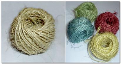 Hilo Sisal Ovillo Chico Color Verde x 30 Mts. Bolsa X 10 Unid. Cod. Hsc30Ver
