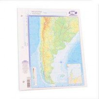 Mapa Mundo Cartografico Nro. 3 Santa Cruz Fisico-Politico Bolsa X 40 Unid. Cod. C-032-Fp