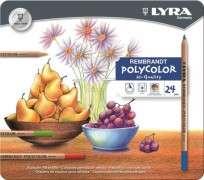 Lapices De Colores Lyra Rembrandt Polycolor x  24 Largos Lata Cod. 2001240