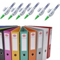 10 Biblioratos Util Of Forrado Plastico Oficio Lomo 75 Mm.+ 12 Lapiz Corrector Liquid Paper 7 ml + Regalo  1 Boligrafo Paper Mate Kilometrico 100 Retractil x24 Unid.Surtidos Cod. Promo1