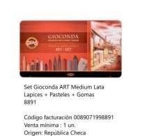 Lapices De Colores Koh-I-Noor Gioconda Set Art Medium Lapices+Pasteles+Gomas En Lata Cod. 089071998891