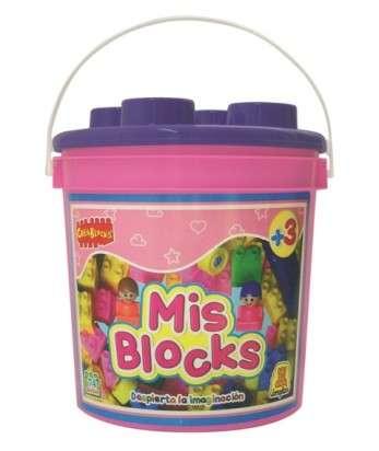 Juego Implas Bloques Y Construccion Mis Blocks-Balde Nenas Cod.177