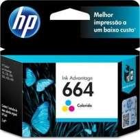 Cartucho Hewlett Packard 664 (F6V28AL) Tricolor 2 Ml. P/Deskjet 2135/3635/3835/4535/4675 Cod. Ci-Hp-6V2800