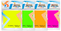 Notas Autoadhesivas Ezco 75 X 75 Mm x 100 Hojas x 4 Unid. Colores Neon (Rosa-verde-amarillo-naranja) Cod. 980654-N