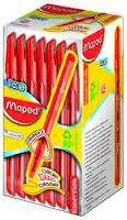 Boligrafo Maped Essentials Green Ice Rojo x 50 Unid. Cod. 224432Ne