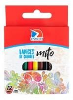 Lapices De Colores Ezco Mito Cuerpo Plastico Hexagonal X 24 Largo Cod. 172202