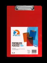 Portaplanilla Ezco A4 Plastico Translucido Azul/Rojo/Naranja Cod. 305200-A4