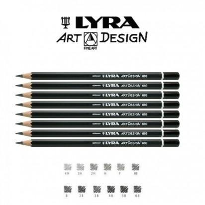 Lapiz Grafito Lyra Rembrandt Art-Design 6B Cod. 1110106