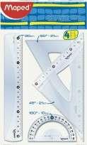 Juego Geometrico Maped Essentials 242 20 Cms. x 4 Piezas En Bolsa Cod. 242820
